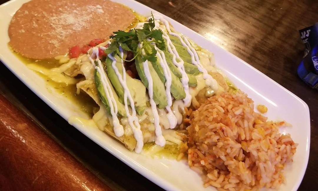Chatterbox of Long Grove Chicken Enchiladas